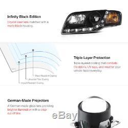 06-2008 Audi A4 B7 Noir Halo Projecteur Led DRL Phare avant + Coolest SMD Feu