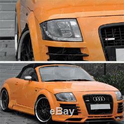 1999-2006 Audi Tt Coupe Convertible Quattro Noir LED DRL Phares Projecteur