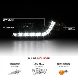 2002-2005 Audi A4 Typ 8E B6 Noir LED R8 Style Projecteur Phare Lampes Sedan