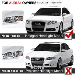 2006-2008 Audi A4 Sedan B7 Noir Euro Spec Conversion LED DRL Phares Paire