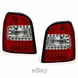 2 Feux Arriere Led Audi A4 B5 Avant Break 01/1996 A 06/2001 Blanc Rouge