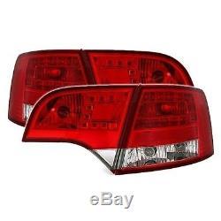 2 Feux Arriere Led Rouge Look A6 & Rs6 Pour Audi A4 Avant 8e B7 11/2004 A 3/2008