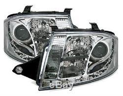 2 Feux Avant Devil Eyes A Led Audi Tt A Fond Chrome
