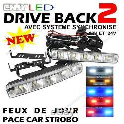 2 Feux De Jour Led E4 Reversible Penetration Calandre Audi A6 Avant 4a 4b