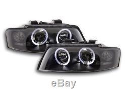 2 Feux Phare Avant Angel Eyes Led Audi A4 B6 De 10/2000 A 11/2004