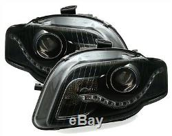 2 Feux Phare Avant Led Audi A4 B7 De 11/2004 A 11/2007 A Fond Noir