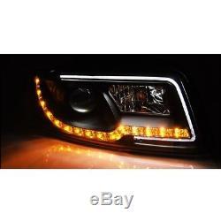 2 Feux Phare Avant Noir A Led Pour Audi A4 8e De 10/2000 A 11/2004