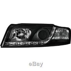 2 X Phares Audi A4 8e Blocs de Phares avant de Voiture avec LED Noir 1015675