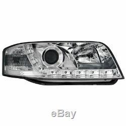 2 X Phares pour Audi A6 4B 01-04 Blocs de avant Voiture avec LED Chrome