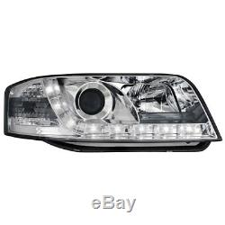 2x D-Lite Phares Audi A6 4B 97-01 LED Lumière de Circulation Diurne Chrome