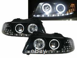 A4 A4/S4 B5 8D MK1 99-01 Projector LED Feux Avant Phare BK EU for AUDI LHD
