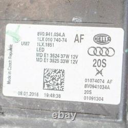 AUDI A3 Sportback 8V RS3 Avant Droite Full LED Phare 8V0941034A 2016 RHD