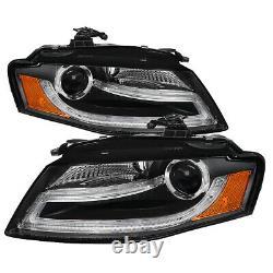 Adapté 09-12 Audi A4 B8 Noir DRL Halo LED Projecteur Léger Barre Phares Lampes