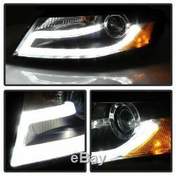 Adapté 09-12 Audi A4 B8 Noir DRL Halo LED Tube Phares Projecteur Hid Modèle