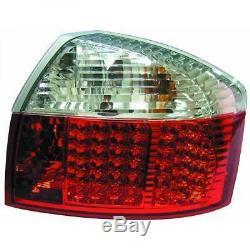 Adapté à Audi A4 8e 00-04 Feux Arrière Paire Set Led Cristal Rouge Blanc