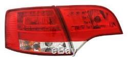 Adapté à Audi A4 B7 avant 11/04-03/08 à Led en Rouge-Transparent Feux Arrière