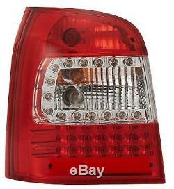 Adapté à Audi A4 avant 94-00 Rouge-Transparent Led-Arrière Feux Arrière Lampe