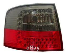 Adapté à Audi A6 avant C5 4b 3/98-2/04 Feux Arrière en Rouge-Noir Led Paire