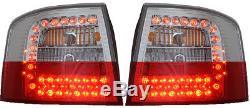 Adapté à Audi A6 avant C5 4b 3/98-2/04 Feux Arrière en Rouge-Transparent Led