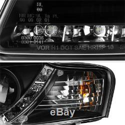 Audi 06-08 B7 A4/S4 LED Bande DRL Projecteur Phare Avant Signal Lampe Mise Noir