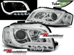 Audi A3 8P Phares LED Lighttube en Chrome 2003 2008 Tüv Neuf Setpreis