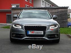 Audi A4 B8 8K LED Lumière Tube Feux Phare avant Set en Noir DRL 07-11