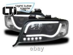 Audi A6 C5 4B LED Lumière Tube Phares Noir 97-01 Kit Tüv Neuf