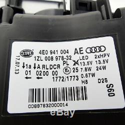 Audi A8 4E D3 Bi-Xénon Phare à droite avec Courbe de Lumière + LED Feux