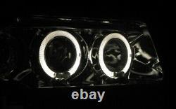Chrome LED Ange Yeux De Phare avant Set pour Audi 80 B4 S2 RS2 + Lwr Neuf