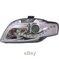 Design Phare avant Set Led Tfl Optique Chrome pour Audi A4 B7 Année Fab. 04-08