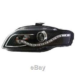 Design Phare avant Set Led Tfl Optique Noir pour Audi A4 B7 Année Fab. 04-08 H9+