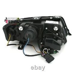 FEUX PHARES AVANTS NOIRS TUBE LED LIGHT BAR AUDI A6 C5 / 4B de 2001 à 2004 0281