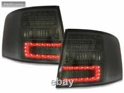 Feu arrière LED noir fumé avec coin LED pour Audi A6 C5 4B 1997-2004 Avant
