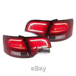Feux Arrieres Rouges Bande Celis Avec Clignotants Led Audi A4 B7 Avant / Break