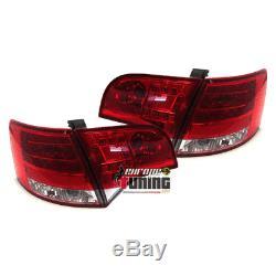 Feux Arrieres Rouges Cristal A Led Audi A4 B7 Avant / Break (00711)