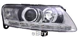Feux Avant Droit + Moteur D3s Audi A6 C6 4f Pack Plus 10/2008-03/2011