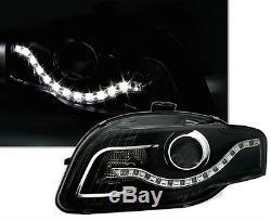 Feux Phares Avant Devil Eyes Led Noir Audi A4 8e B7 2004-2007 S-line Quattro