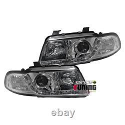 Feux Phares Avants Chrome Devil Eyes Led Audi A4 B5 Phase 1 (13098)