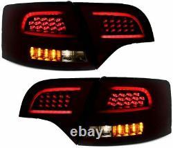 LED Barre Feux Arrières Noir Fumé pour Audi A4 B7 04-08 Avant