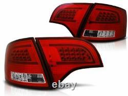 LED Barre Feux Arrières Rouge Blanc pour Audi A4 B7 04-08 Avant