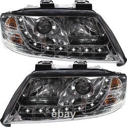 LED Feux Phare avant Set pour Audi A6 Type 4B C5 Année Fab. 97-01 H1+H1 Dimmbar