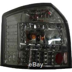 LED avant & Arrière Feux pour Audi A4 B6 Année Fab. 00-04 Transparent Fumee Noir