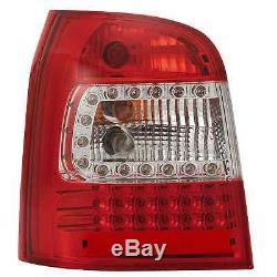 Led avant & Arrière Feux pour Audi A4 B5 Année Fab. 94-01 Transparent Rouge