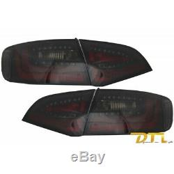Litec LED Feux arriere AUDI A4 B8 Avant (2008-2011) Black/Smoke with Dynamic Seq