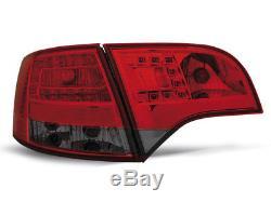 NEUF! Feux arrières pour AUDI A4 B7 2004-2008 AVANT Rouge Fumée LED FR LDAU38EI