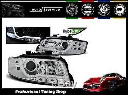 Neuf Feux Avant Phares Lpau87 Audi A4 2000 2001 2002 2003 2004 Led Tube Lights