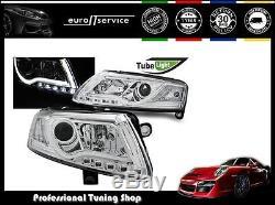 Neuf Feux Avant Phares Lpau95 Audi A6 C6 2004 2005 2006 2007 2008 Led Chrome