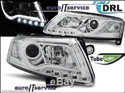 Neuf Feux Avant Phares Lpauc7 Audi A6 C6 2004 2005 2006 2007 2008 Led Drl