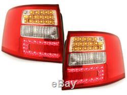 OFFER Tail Lights AUDI A6 C5 4B 1997-2004 AVANT Red White LED DEPO FR LDAU04ES X