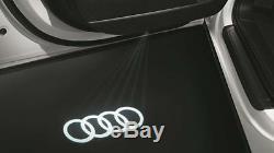 ORIGINAL AUDI LED lumières d'entrée, logoprojektion anneaux, a1-r8, NEUF